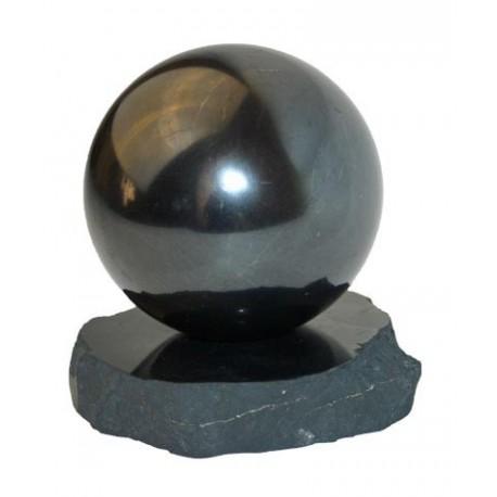 Esfera con peana de Shungita