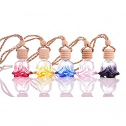 Frasco de perfume de vidro com tampa madeira 10 ml