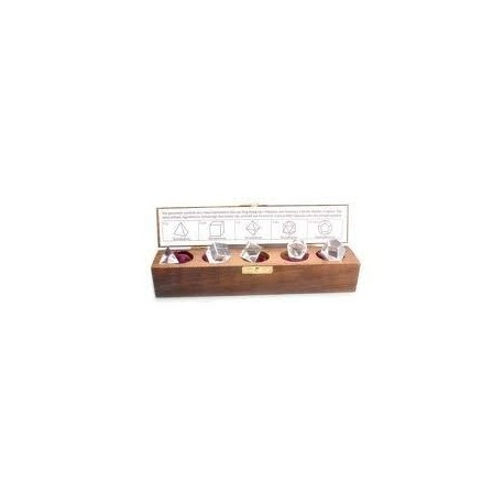 Kit 5 solidos cuarzo cristal