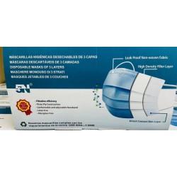 Masques hygiéniques jetables - 3 couches (50 u.)