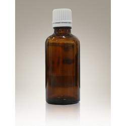 Flacone in vetro ambrato con tappo a vite da 50 ml