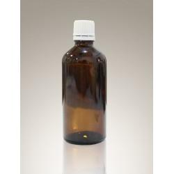 Flacone in vetro ambrato con tappo a vite da 100 ml