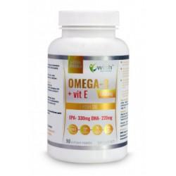 Omega 3 1000mg + vitamina E | 90 capsule