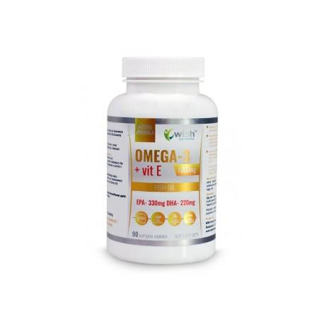 Omega 3 1000mg + Vitamina E |90 cápsulas